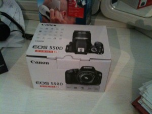 canon 550d boxed